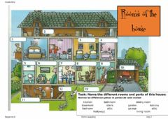 Interactive worksheet Vocabulary rooms and parts of a house