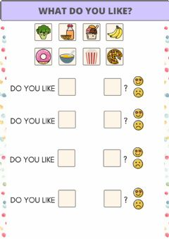 Interactive worksheet Do you like? Food