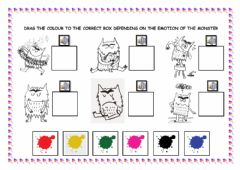 Interactive worksheet What-s the colour of the monster?