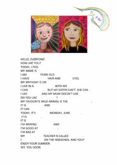 Interactive worksheet This is me 3
