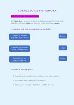 Interactive worksheet Los romanos en Hispania