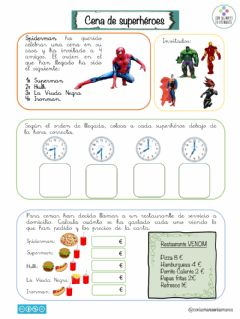 Interactive worksheet Cena de superhéroes1