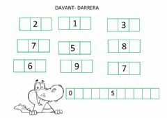 Interactive worksheet Davant-darrera
