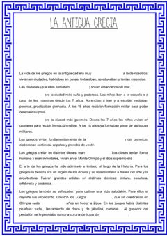 Interactive worksheet La Antigua Grecia