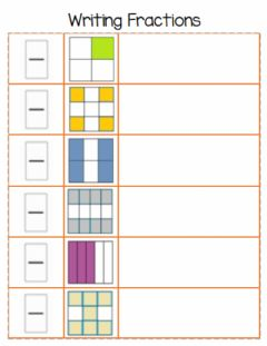 Interactive worksheet Writing Fractions 1