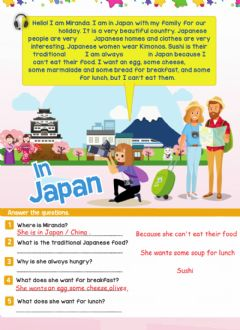 Interactive worksheet In Japan