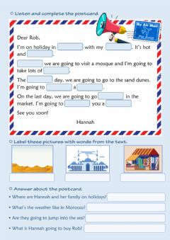 Interactive worksheet Summer plans 7