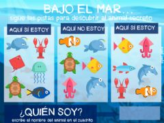 Interactive worksheet Bajo el mar