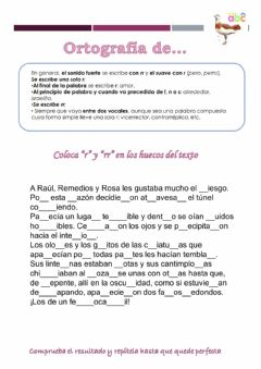 Interactive worksheet Dictado de la -r- y -rr-