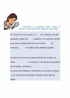 Interactive worksheet El comercio