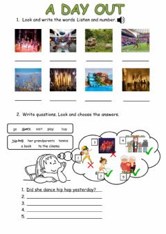 Interactive worksheet A day out