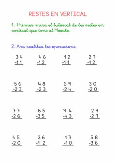 Interactive worksheet Restes en vertical