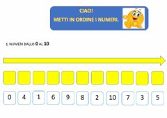 Interactive worksheet Metti in ordine. Da 0 a 10