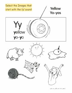 Interactive worksheet Grade R - Phonics - Y