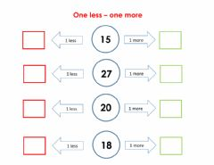 Interactive worksheet One less- one more