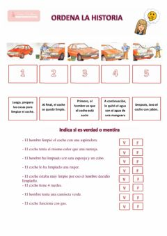 Interactive worksheet Secuencia temporal coche y absurdos