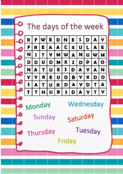 Interactive worksheet Days of the week- Puzzle