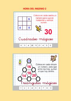 Interactive worksheet Hora del ingenio 02
