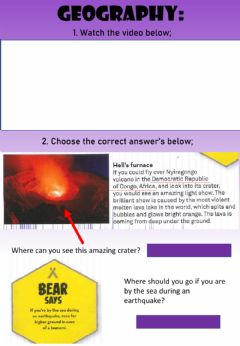 Interactive worksheet WEEK 19: TUESDAY: Earthquakes