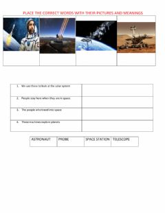 Interactive worksheet How do we learn about space?