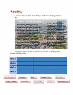 Interactive worksheet Reading: there is - there are