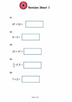 Ficha interactiva Arithmetic sheet