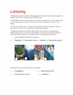 Interactive worksheet Listening: there is - there are