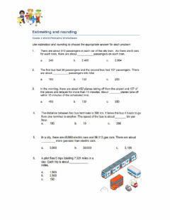 Interactive worksheet Estimating and Rounding Word Problem