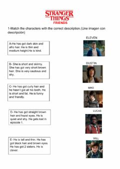 Interactive worksheet Stranger Things