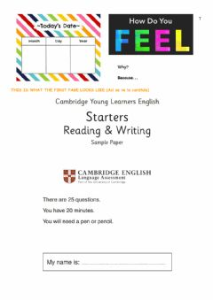 Interactive worksheet Starters practice Cambridge Exams