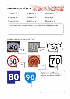 Interactive worksheet 9CHI Numbers 1