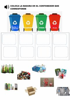 Interactive worksheet Reciclaje de basura