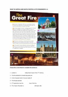 Interactive worksheet The great fire
