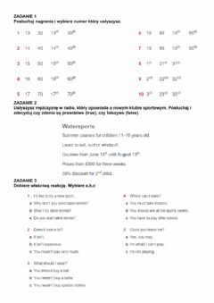 Interactive worksheet Dates, numbers