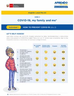 Interactive worksheet COVID-19, my family and me W-2