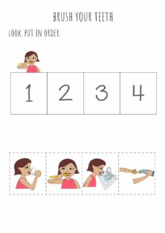 Interactive worksheet Lavado de dientes