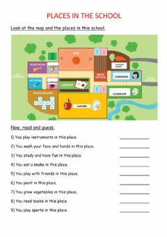 Interactive worksheet Places in the school