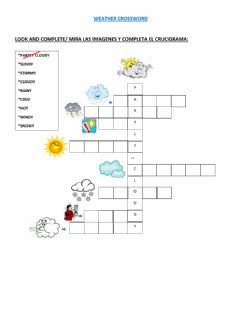 Interactive worksheet Weather crossword