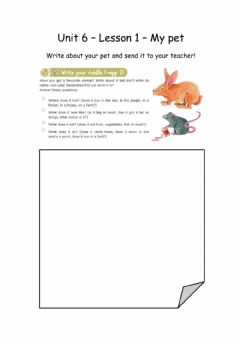 Ficha interactiva Write about your pet!
