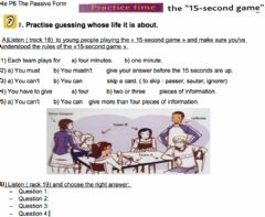 Interactive worksheet The 15-second game