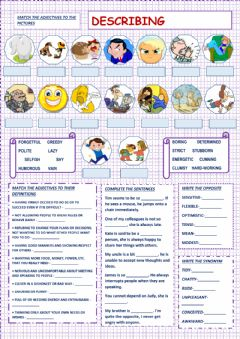 Interactive worksheet Traits of character