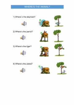 Interactive worksheet Where's the animal?