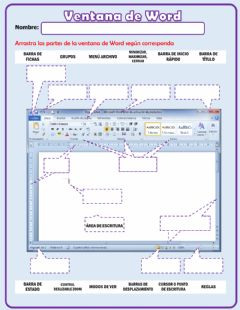 Interactive worksheet Ventana de Microsoft Word