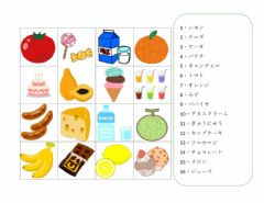 Interactive worksheet 食べ物・飲み物