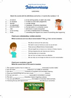 Interactive worksheet Listening exercises