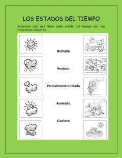 Interactive worksheet Estados del tiempo