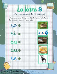 Interactive worksheet Sílabas de la S