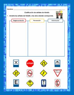 Interactive worksheet Señales de transito