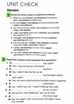 Interactive worksheet PET UNIT CHECK 2