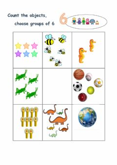 Interactive worksheet Sets of 6